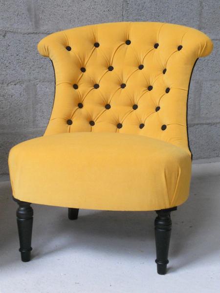 Fauteuil crapaud vanessa camisuli - Fauteuil crapaud jaune ...